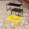 set tavolo e panca moderno / in legno / in acciaio / da esterno