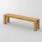 panca design scandinavo / in quercia / in legno massiccio / in noce