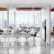 tavolo da conferenza moderno / in laminato / rettangolare / bianco