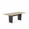 tavolo da pranzo moderno / in quercia / in legno massiccio / in MDF laccato