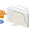 blocco di calcestruzzo cellulare / per muro