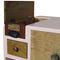 cassettone con piedi alti / design originale / in legno laccato / in legno patinato