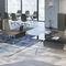 scrivania direzionale / legno / in melamminico / in vetro fumè
