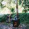 braciere da giardino a legna / con barbecue