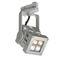 faretti a binario LED / quadrata / in alluminio massiccio / contract
