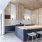 cucina moderna / in legno / in pietra / con isola