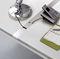 canalina di cablaggio in metallo / per scrivania / professionale / verticale