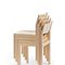 sedia moderna / con braccioli / impilabile / in legno