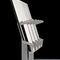 sedia per auditorium pieghevole / con braccioli / in compensato stampato / grigia