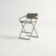 sedia alta moderna / in Textilene® / in alluminio / da giardino