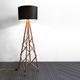 lampada da terra / moderna / in metallo / in legno