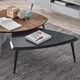 tavolino basso moderno / in legno laccato / triangolare / contract
