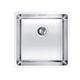 lavello a 1 vasca / in acciaio inox / sottotop / quadrato