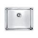 lavello a 1 vasca / in acciaio inox / sottotop / senza gocciolatoio