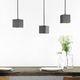 lampada a sospensione / in calcestruzzo / design minimalista / bianca