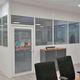 parete divisoria amovibile / modulare / in alluminio / in vetro