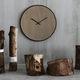 orologio moderno / analogico / a muro / in quercia