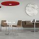 pannello acustico per soffitto / per muro / in tessuto / per ufficio