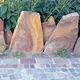 bordura da giardino / in pietra / altre forme