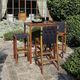 tavolo alto moderno / in legno / quadrato / contract