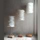 lampada da terra / in metallo / di carta / design originale