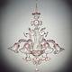 lampadario classico / in cristallo / in vetro di Murano / in filo metallico