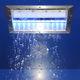 soffione doccia da neve / da incasso a soffitto / rettangolare / con illuminazione incorporata