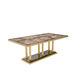 tavolo da pranzo moderno / in legno / in metallo / in pietra