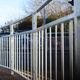 recinzione per spazio pubblico / a sbarre / in metallo / ad alta sicurezza