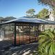 veranda autoportante / in acciaio galvanizzato / contract
