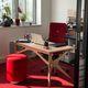 scrivania in legno con vernice di protezione / moderna / contract