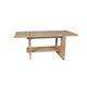 tavolino basso moderno / in legno con vernice di protezione / rettangolare / da interno