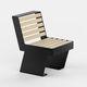 sedia moderna / in legno / in acciaio / per spazi pubblici