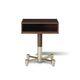 comodino moderno / in legno / con supporto in metallo / rettangolare