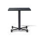 tavolo moderno / in legno / con supporto in metallo / quadrato