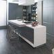 cucina in Solid Surface / moderna / in agglomerato / in alluminio