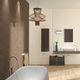 piastrella da bagno / da parete / in gres porcellanato / rettangolare