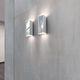 applique moderna / in alluminio / in vetro borosilicato / LED
