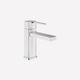 miscelatore per lavabo / da appoggio / in metallo cromato / da bagno