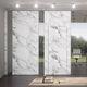 parete divisoria amovibile / in vetro / in tessuto / in marmo