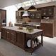 cucina classica / in legno laccato / con isola / opaca