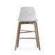 sedia alta moderna / con poggiapiedi / riciclabile / in faggio