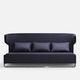 divano moderno / in tessuto / in pelle / in metallo cromato