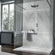 piatto doccia rettangolare / a filo pavimento / in pietra