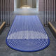 tappeto moderno / a righe / in lana / in cotone