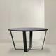 tavolo moderno / in metallo / con supporto in metallo verniciato / tondo