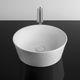 lavabo sospeso / rettangolare / in porcellana / moderno