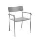 sedia moderna / con braccioli / impilabile / in alluminio