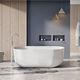 vasca da bagno da appoggio / ovale / in pietra
