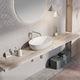 lavabo da appoggio / ovale / in pietra / moderno